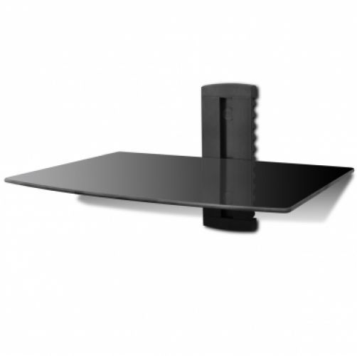 1-tier Wall Mounted Glass DVD Shelf Black  Make the Best this Budget Novelty. At Luxury Home Brands WE always Find Great Stuff for you :)