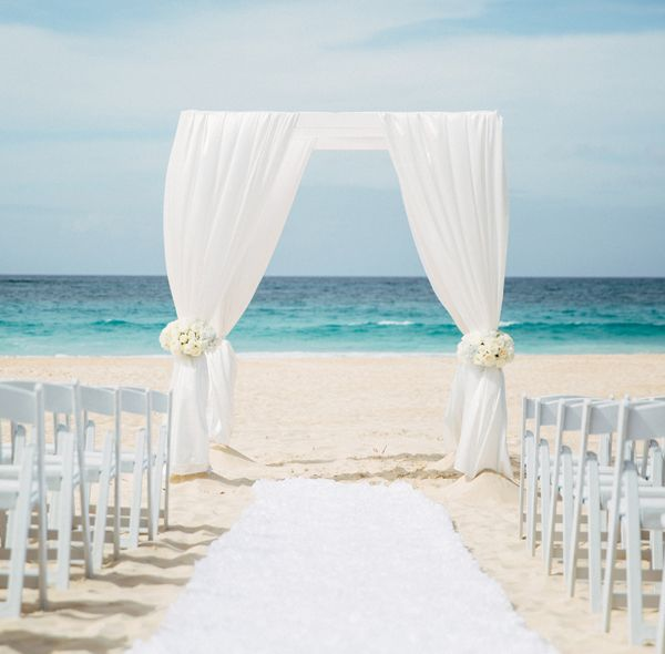 Beach Wedding Decorations Ideas: Glam Hard Rock Punta Cana Beach Wedding Arch By Weddings