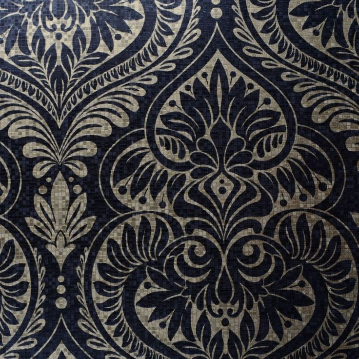 Find More Wallpapers Information About Modern Luxury Metallic Gold Silver Black Damask Wallpaper For Home