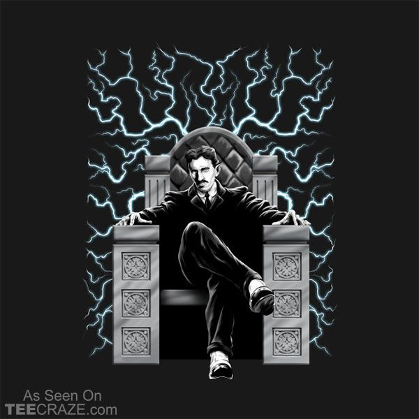 Tesla Electric Chair T Shirt Electric Chair Green Lantern Design