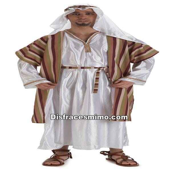 Tu mejor disfraz de hebreo para hombre adulto talla m/l.de estética Beduína, te permitrá sentirte como un Jeque Árabe en Fiestas Temáticas y Carnaval, un Pastor en Navidad.Este disfraz es ideal para tus fiestas temáticas de disfraces de navidad para mujer adulto.
