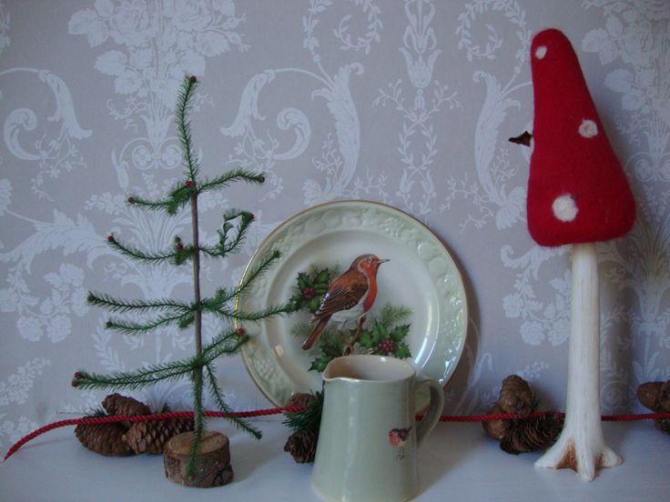 a little view of the woodland mantelpiece setting