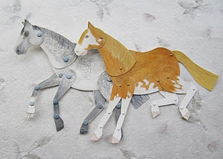 Kid's Horse Craft using card and paper fasteners so it can move. Would be great  decorated for Chinese New Year 2014