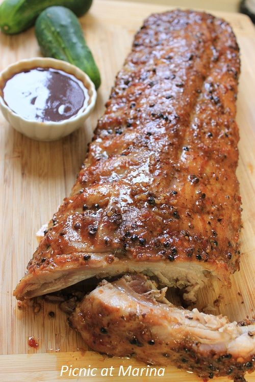 BBQ Ribs -marinated then slow cooked in oven