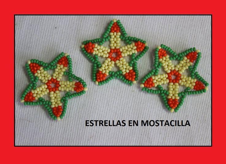 Estrellas en mostacilla para collar//como hacer empresa