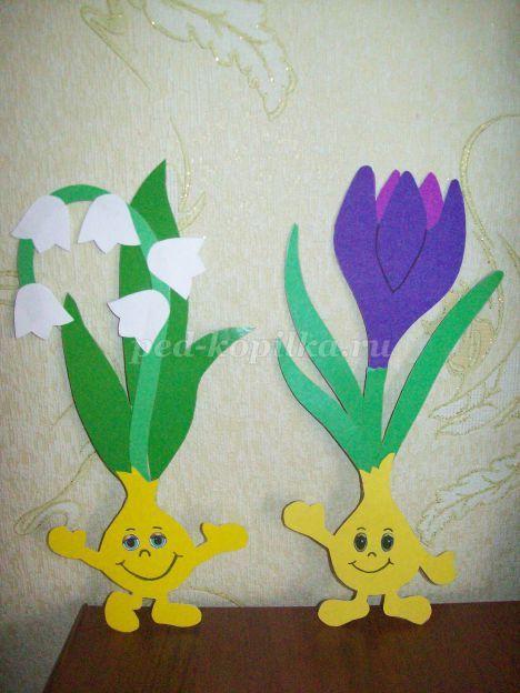 Весенние цветы из бумаги своими руками