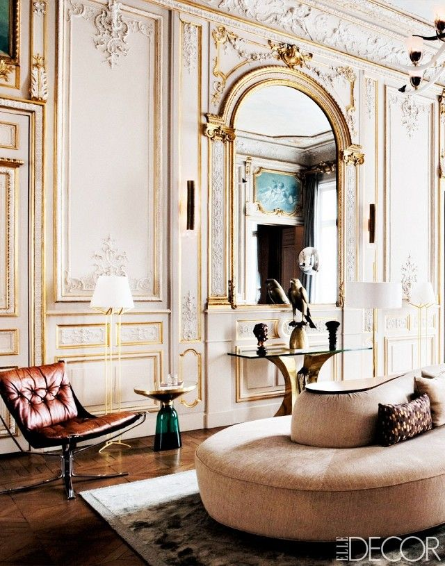 Old Meets New In This Stunning Parisian Apartment Photographed For ELLE DECOR Trending World Inspired Furniture Is Befitting To The Architecture