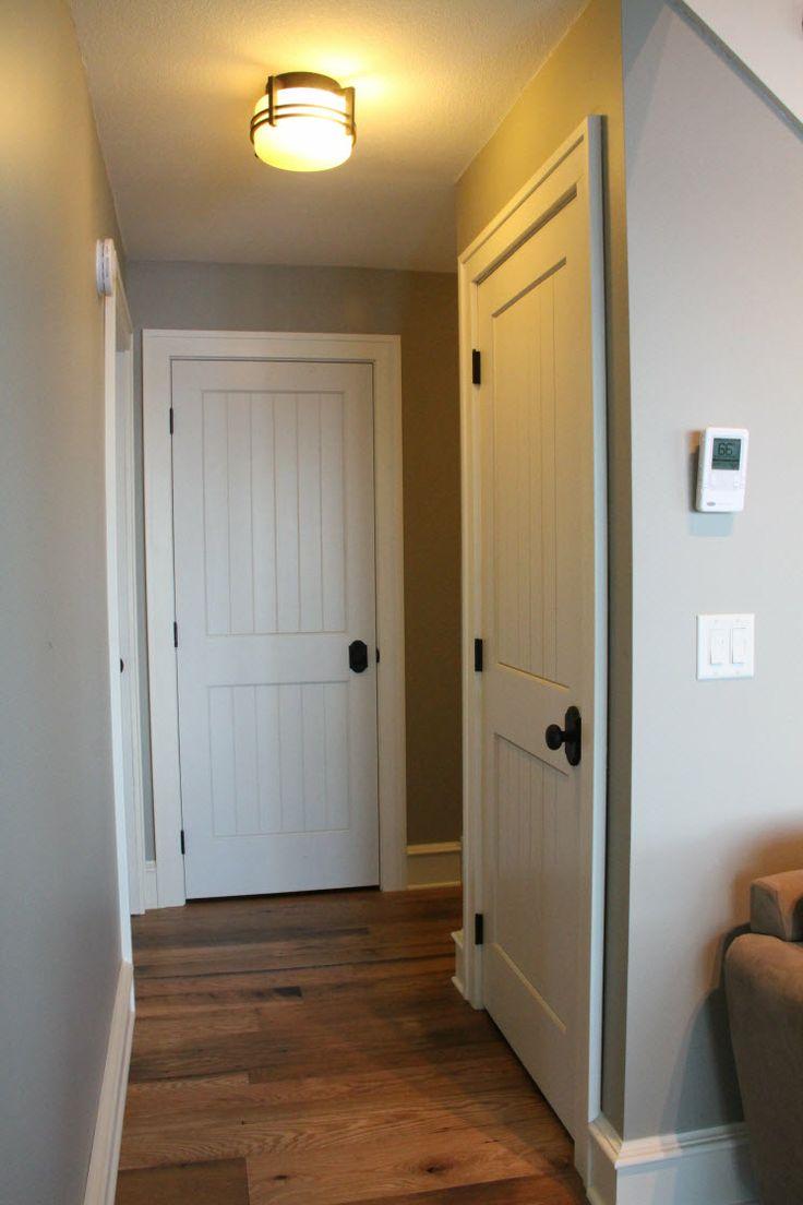 Interior Doors   sleek cottage style with white molded ...
