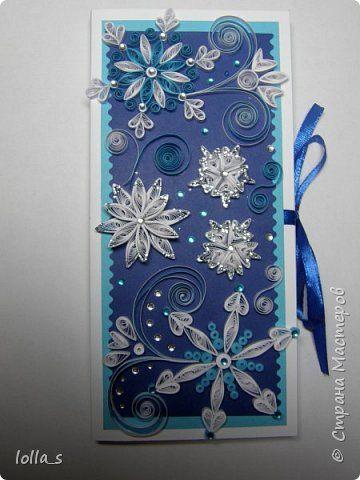 Открытка Новый год Квиллинг Новогодние шоколадницы и открытки Бумага фото 4