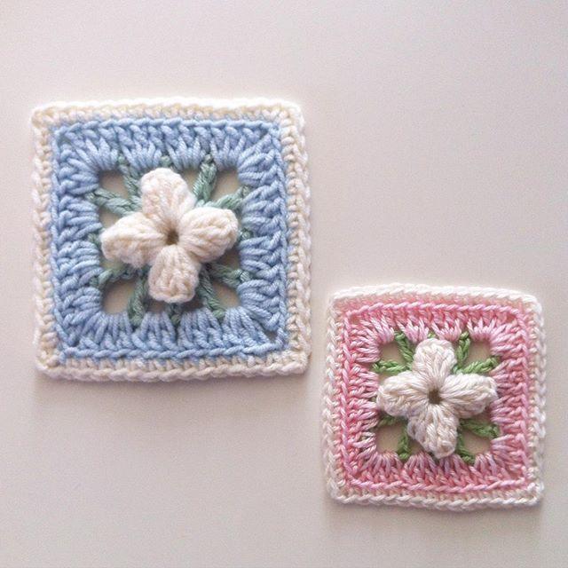 flzvarol crochet flower squares 3d