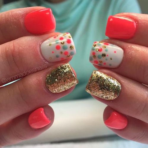 Best 25+ Coral nail designs ideas on Pinterest