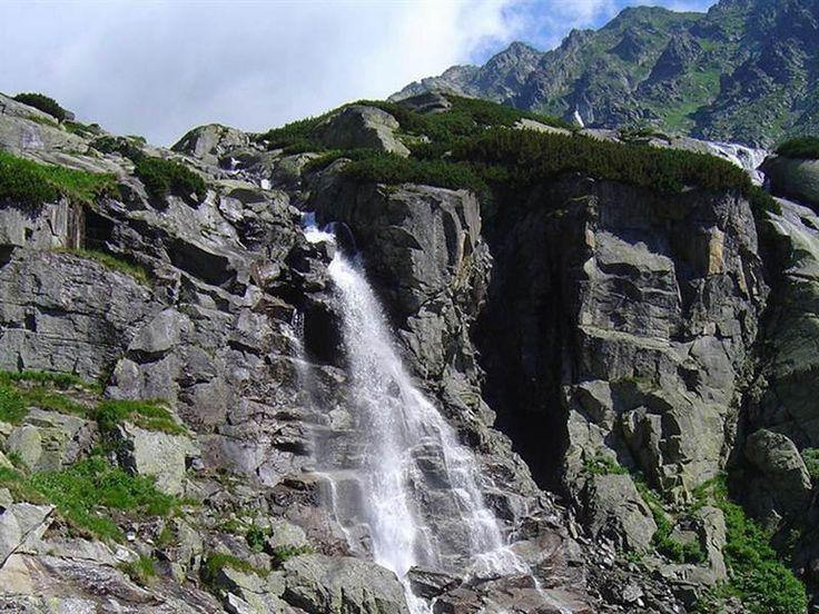 vodopad skok 4 Kristo - aj menej zdatní, pri Štrbskom plese