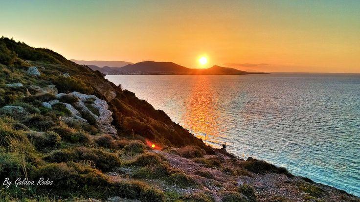 Monte Smith sunset - Rhodes island