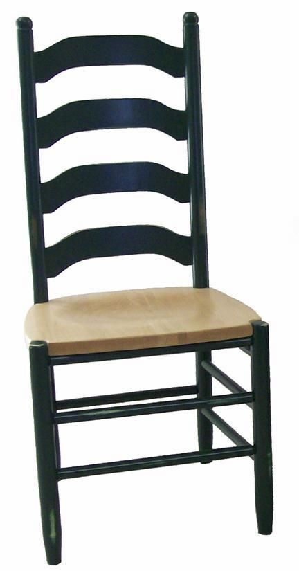 Amish Furniture La Fleur Ladderback Dining Chair  Ohio Chair Collection  This French style Amish chair will bring you old-world style and comfort to enjoy for generations! The look is simple, yet gives you some pop with come color, if that's what you are looking for.