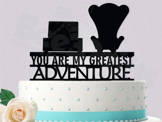 Disney oben inspiriert Cake Topper (Sie sind mein größtes Abenteuer)