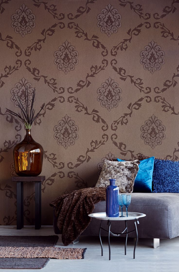 Traditional damask from the Eijffinger Savour collection