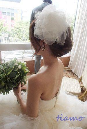とっても可愛い花嫁さまのこだわりお洒落Wedding♡♡ の画像|大人可愛いブライダルヘアメイク『tiamo』の結婚カタログ