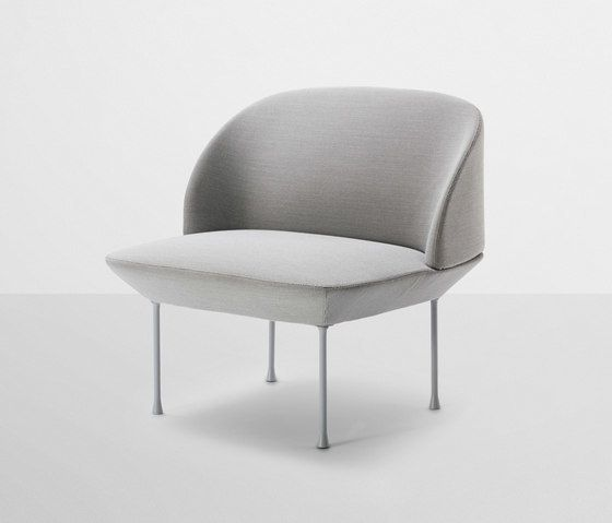 MATERIAL: Inner frame of steel, Nozag springs, legs of aluminum with powder coated surface and fabric from Kvadrat. CARE: See kvadrat.dk for the cleaning and maintenance instructions for your chosen textile. DIMENSIONS: Length: 80 cm Depth: 73 cm Total Height: 78 cm Seat Height: 45 cm Seat Depth: 55 cm COLOUR: light grey/Steelcut 160