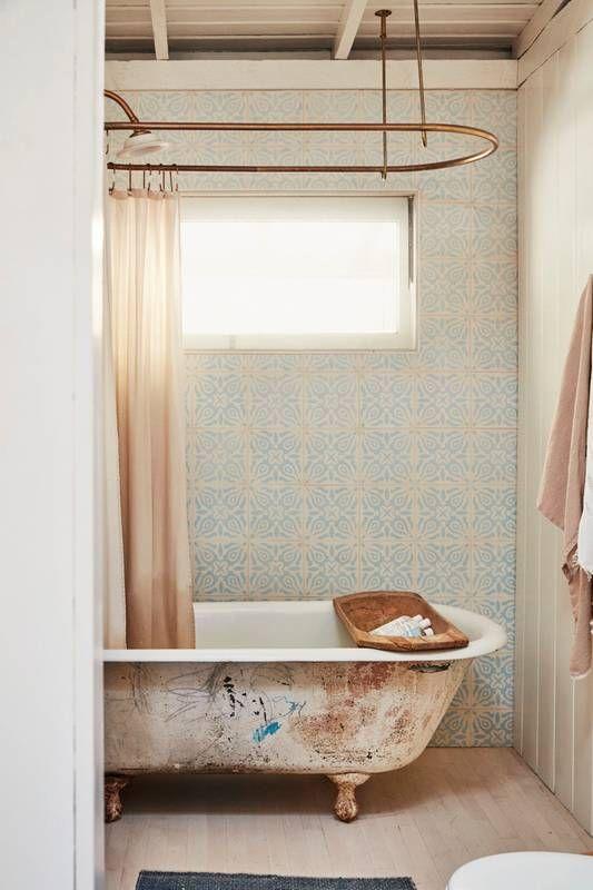 rustic bath, an eclectic assortment of decorative details