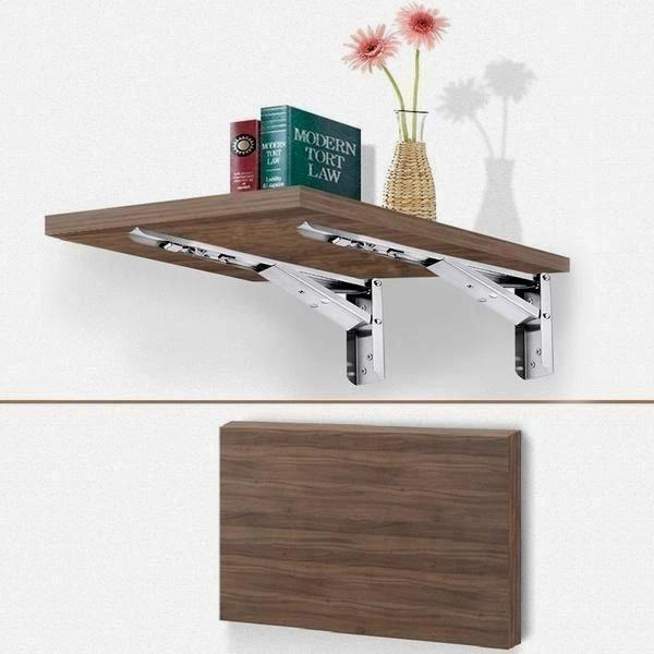 2pcs Foldable Wall Shelf Bracket In 2020 Wall Shelf Brackets Collapsible Shelves Wall Shelves