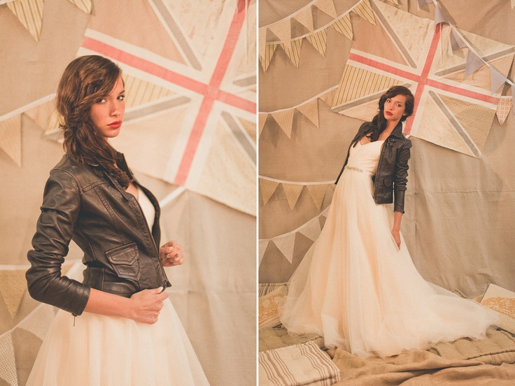 leather jacket and wedding dress phantastic photos and such