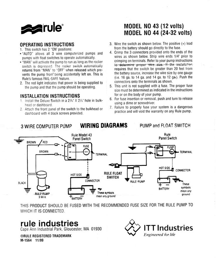 Rule Bilge Pump Switch Wiring Diagram Boat electronics