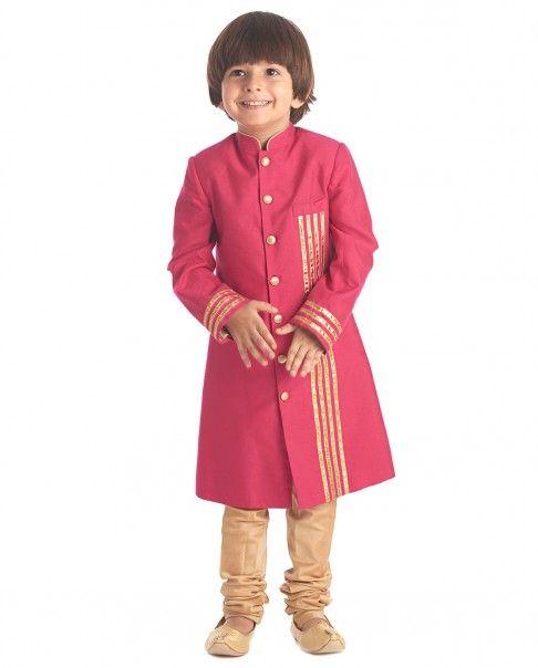 Magenta Sherwani Set - Kidology - Designers