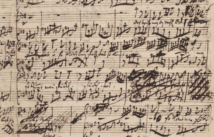 J.S. Bach handwritten score of his Coffee Cantata.