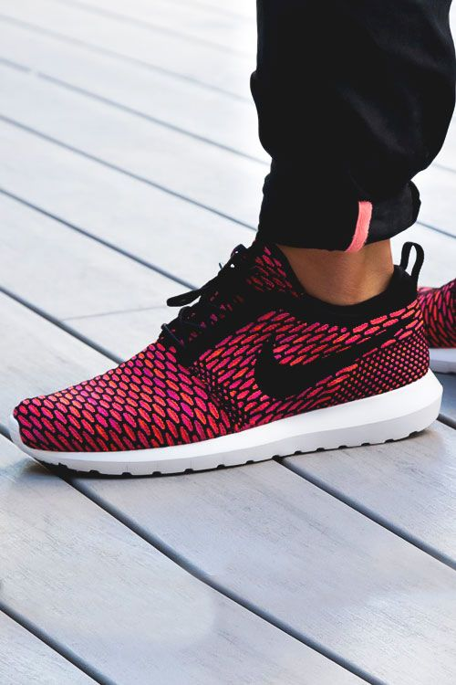 "fitandfruity: ""airville: """"Fire Berry"" Nike Roshe Run Flyknit by  SneakerNews "" Gimme """