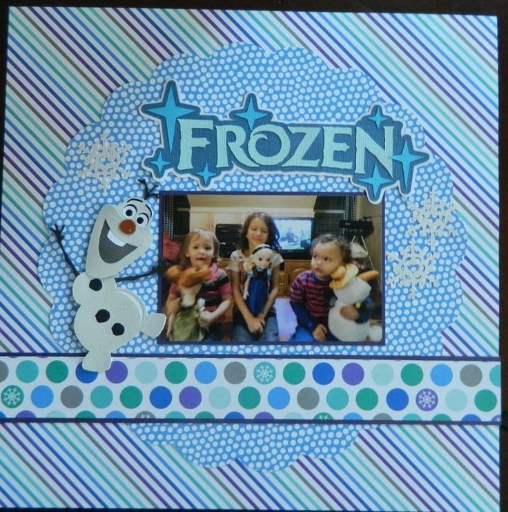 frozen - Scrapbook.com.  Great page for the father-daughter dance pictures.