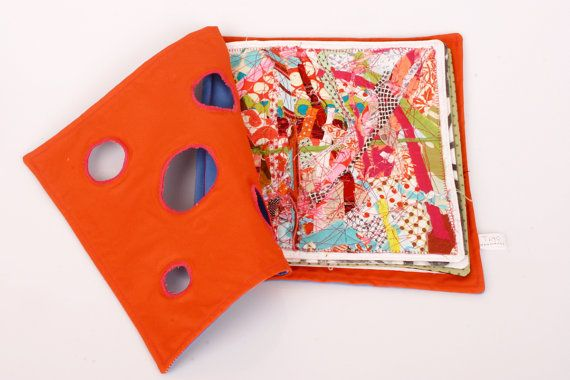 Fabric book  handmade colorful Original by TIMOHANDMADE on Etsy, $230.00
