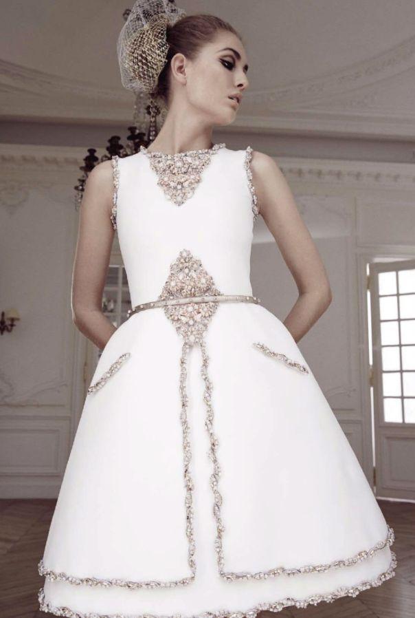 Robe de mariée Chanel Haute Couture collection automne hiver 2014 ...