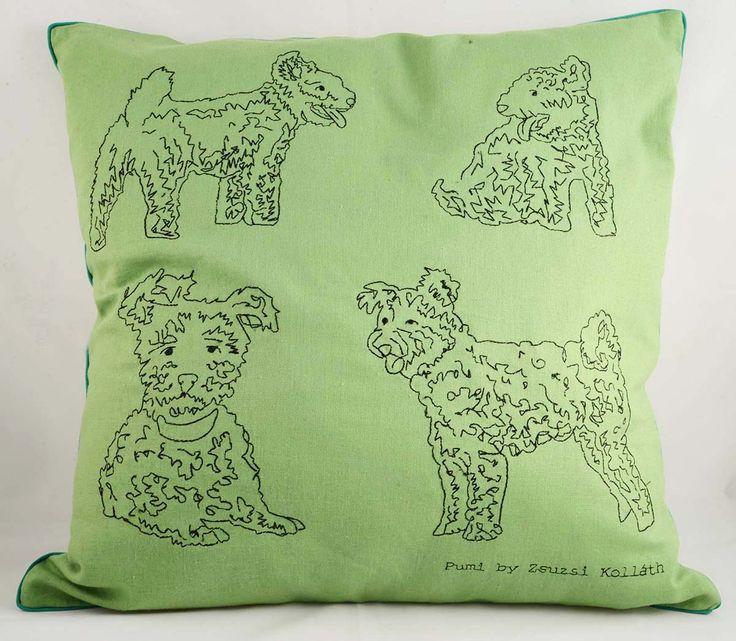 Cushion cover designed by Zsuzsanna Kolláth