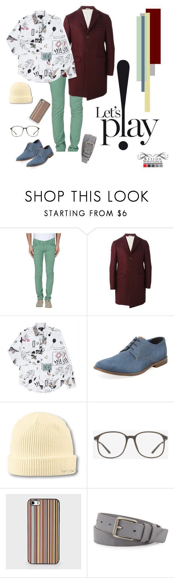 """Let's P!ay"" by keylonwhitlock ❤ liked on Polyvore featuring RoÃ¿ Roger's, Al Duca d'Aosta, Paul Smith, Ben Sherman, Atlantis Caps, EyeBuyDirect.com, Burberry, men's fashion and menswear"