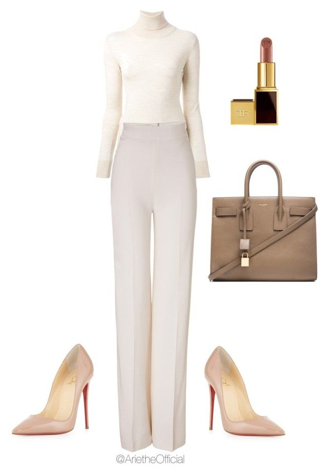 Untitled #7 by arietheofficial on Polyvore featuring polyvore fashion style Ermanno Scervino Emilia Wickstead Christian Louboutin Yves Saint Laurent Tom Ford clothing