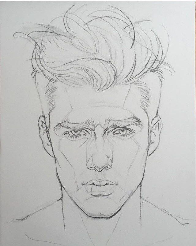 Line Drawing Boy Face : Best figure drawing head shoulders images on