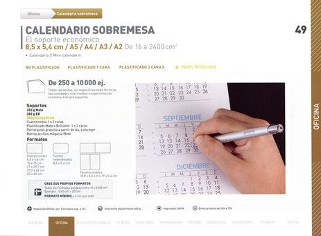 DISTRIPAPER calendario sobremesa Calendario, mini calendario,