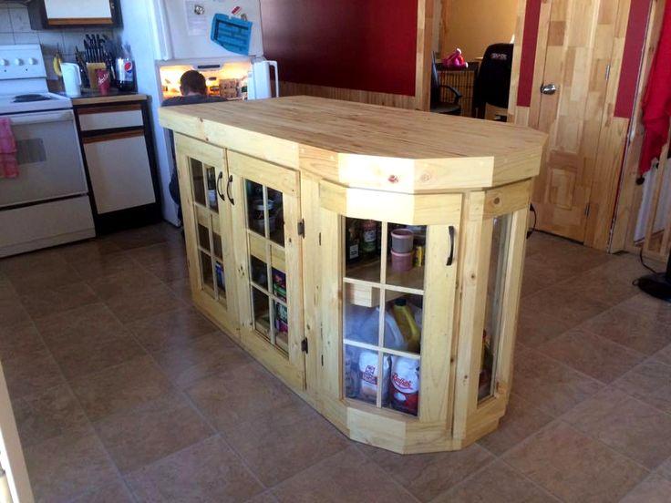 100 best next pallet project images on pinterest home for Pallet kitchen island plans