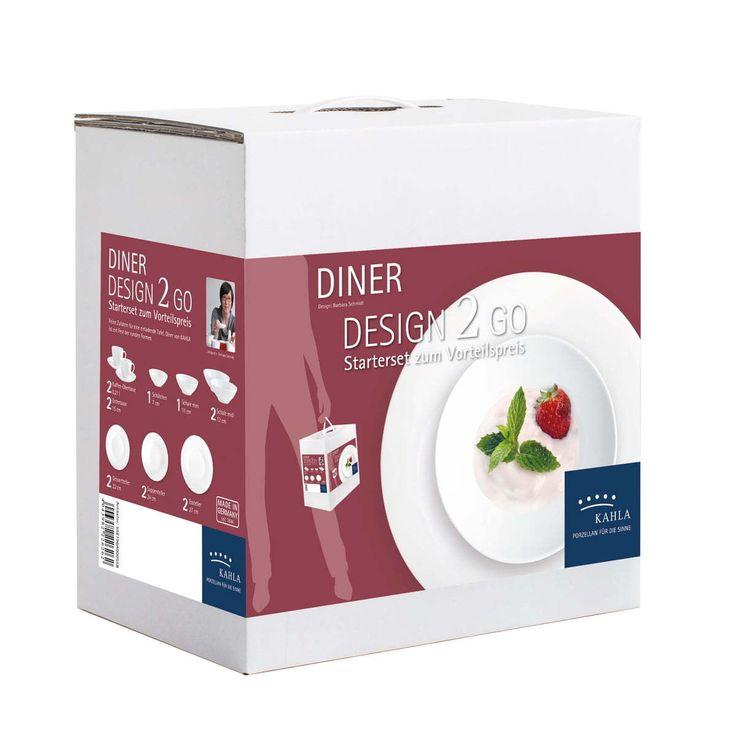 Kahla - Diner Design 2 Go Geschirr-Set, weiß (14 tlg.) Jetzt bestellen unter: https://moebel.ladendirekt.de/kueche-und-esszimmer/besteck-und-geschirr/geschirr/?uid=bc2316cc-a2ea-5d8f-9114-58965224d093&utm_source=pinterest&utm_medium=pin&utm_campaign=boards #geschirr #kueche #esszimmer #besteck