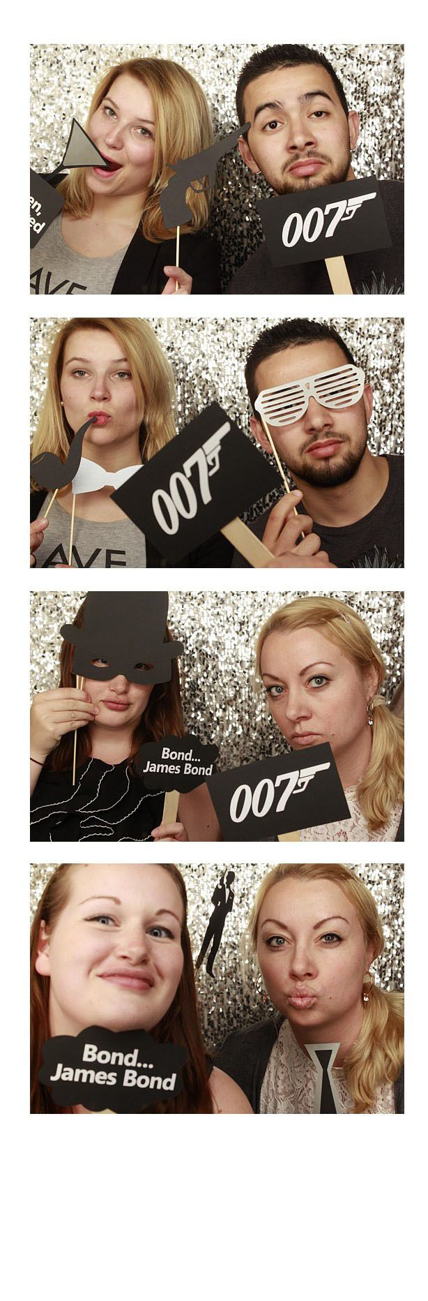 James Bond Photo Booth Props