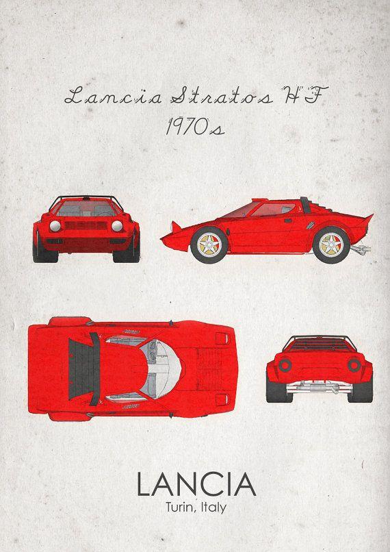 Lancia Stratos HF. 1970s. Wall Art. Car Graphic. Digital by jbFARM