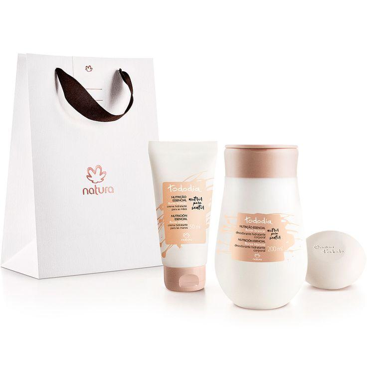 Presente Natura Tododia Flores Brancas - Desodorante Hidratante Corporal 200 ml + Creme Hidratante Mãos 50 ml + Sabonete Barra 50 g + Embalagem - 66235