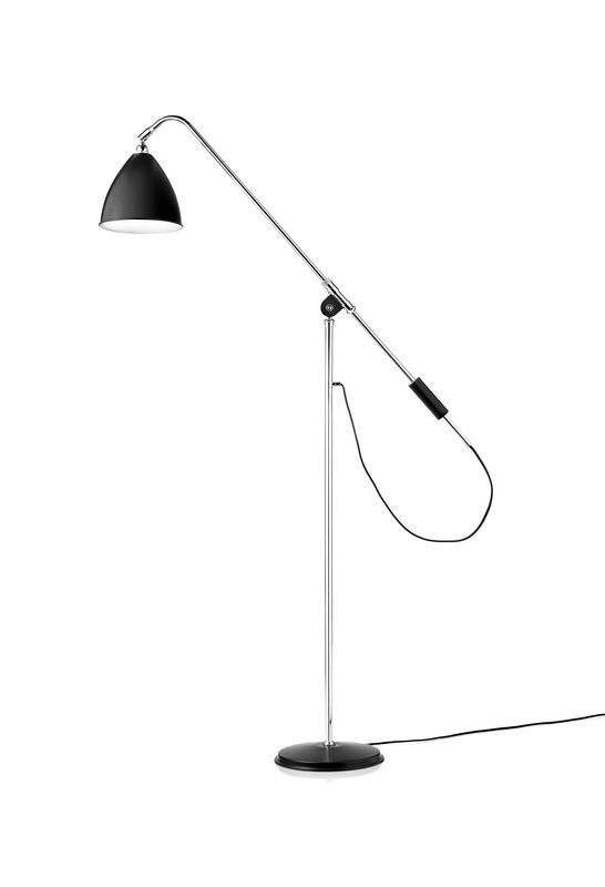 GUBI // Bestlite BL4 Floor Lamp in black/chrome