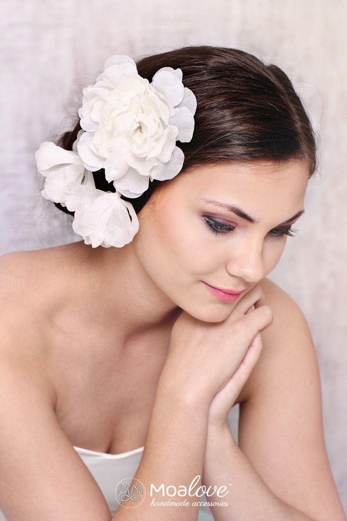 Emilia | three silk flowers – clip - MoaLove Accessories