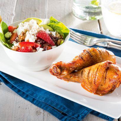 ALDI België - Recept - Kippenbouten met zomerse salade