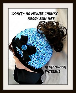 FREE CROCHET PATTERN, MESSY BUN HAT,