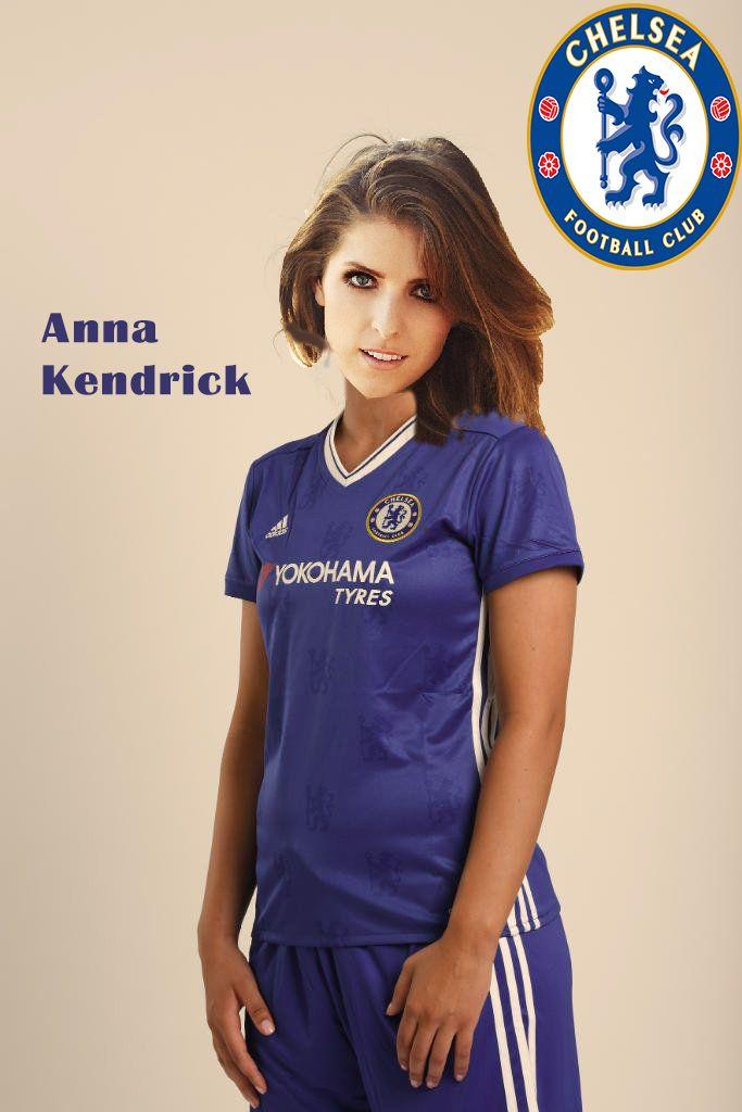 Anna Kendrick Chelsea FC Ladies (FAKED)