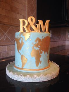 vintage world map cake - Google Search