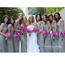 Image result for silver sequin dress bridesmaid