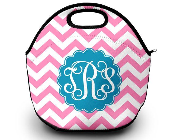 Lunch Bag | Monogrammed Lunch Box | Personalized Lunch Tote | Gift For Her Lunch Bag for Women by SassySouthernGals now at http://ift.tt/2CTH8hA